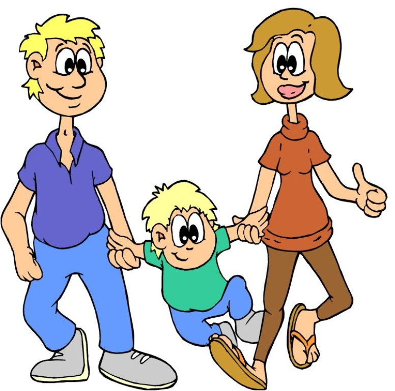 картинки родители и дети нарисованные